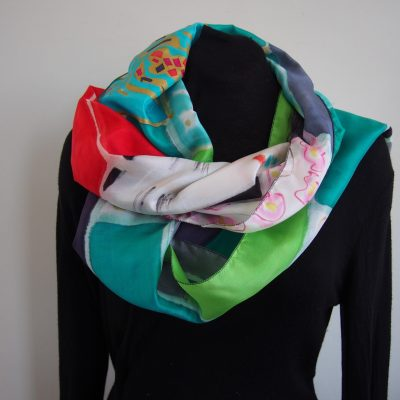 japan lady, silk scarf