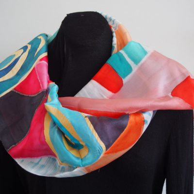 party by the sea, silk scarf