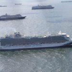 Cruiseschepen op de Noordzee (bron Schuttevaer)