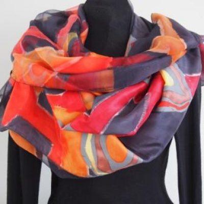 2 laags zijden sjaals