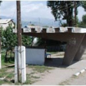 bushokje in Kirgizië